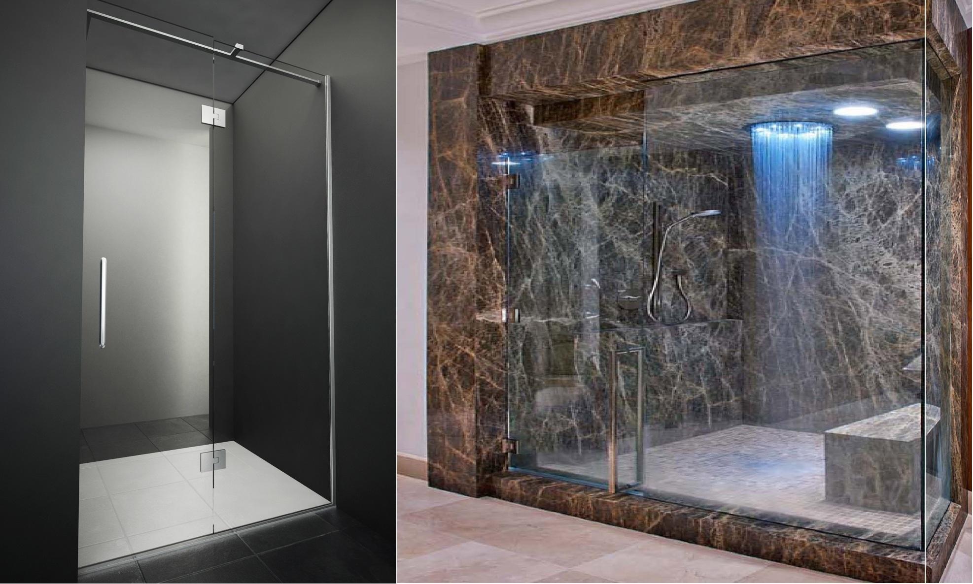сучасна скляна душова