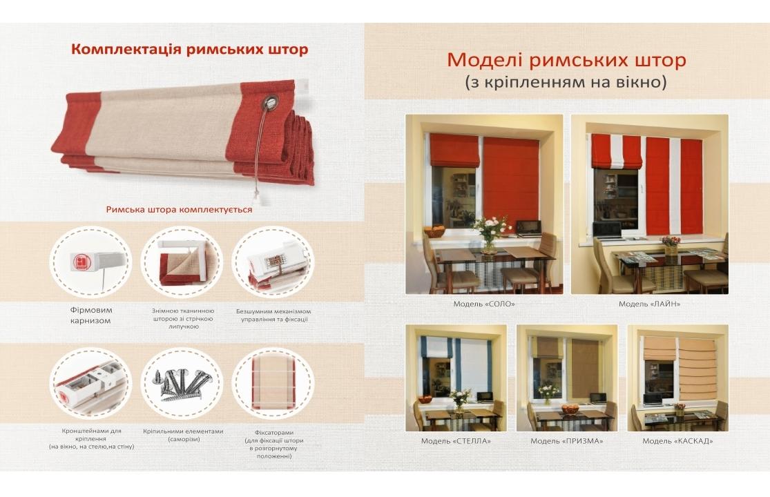 Моделі римських штор